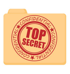 top secret icon cartoon style vector image