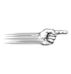 Hand pointing concept vector