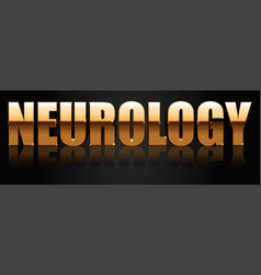 neurology golden logo vector image