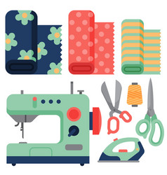 Thread supplies accessories sewing equipment vector