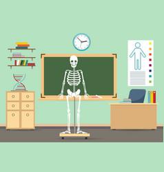 Anatomy classroom interior vector