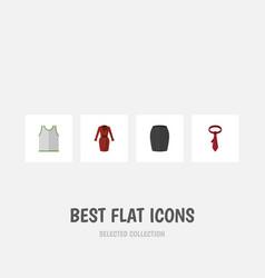 Flat icon dress set of stylish apparel singlet vector