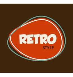 retro style design vector image
