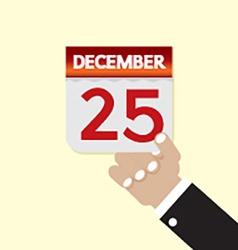 25th December Calendar vector image