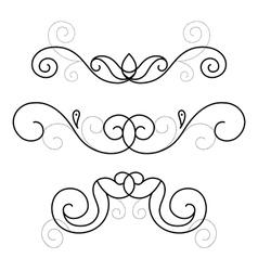 set of decorative ornament vector image