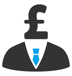 Pound businessman flat icon symbol vector