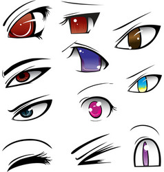anime eyes vector image vector image