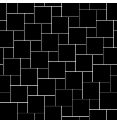 black tiles seamless pattern vector image vector image
