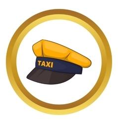 Cap taxi driver icon vector
