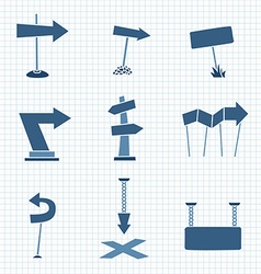 Cartoon Arrows vector image vector image