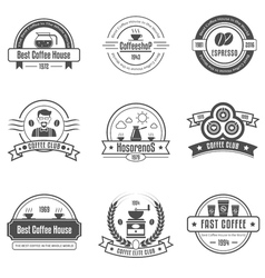 Coffee house emblems set vector