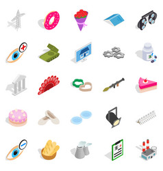 Craft icons set isometric style vector