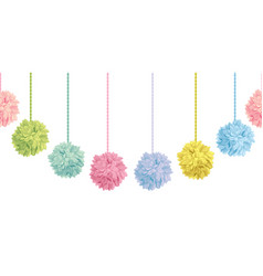 Cute set of hanging pastel colorful vector