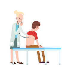 doctor visit in clinic icon vector image