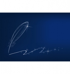 Feather and sparkles vector