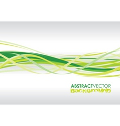 green spiral lines vector image vector image