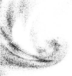 Grunge halftone ink background vector