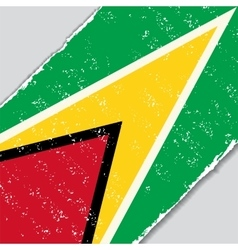 Guyana grunge flag vector