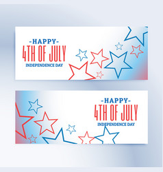 Happy 4th of july independence day banners and vector