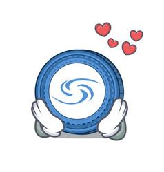 In love syscoin mascot cartoon style vector