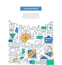Italian Pizza - line design brochure poster vector image vector image