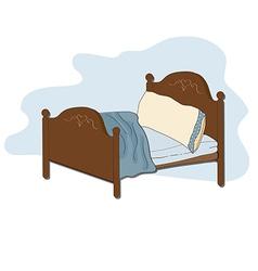 Kid bed vector