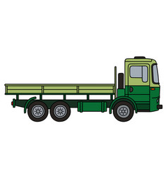 Light and dark green truck vector