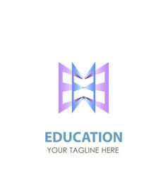 logo education book school design icon template vector image