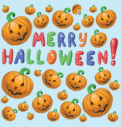 merry hallowen vector image vector image