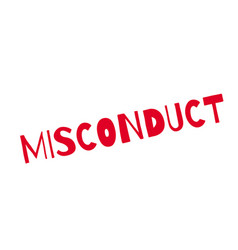 Misconduct rubber stamp vector