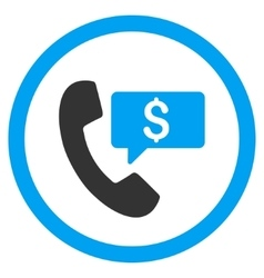 Phone order rounded icon vector