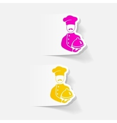 realistic design element cook vector image vector image