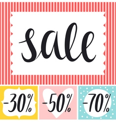 Sale tags desing set vector image vector image