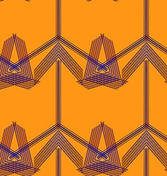 Seamless geo pattern37 vector