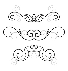 set of decorative ornament vector image vector image