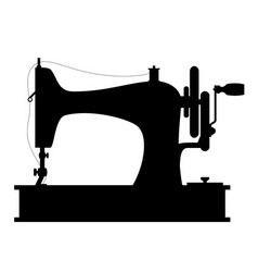 sewing machine old retro vintage icon stock vector image vector image