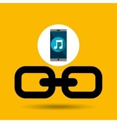 Smartphone music online link vector