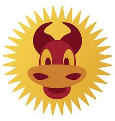 smiling cartoon bull vector image vector image