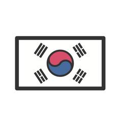South korea vector