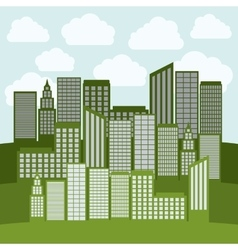 Tower buildings of city design vector