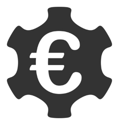 Euro industry flat icon vector