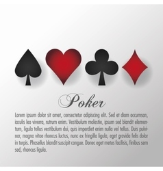 Casino and cards symbols of poker design vector