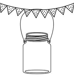 Isolated mason jar design vector image