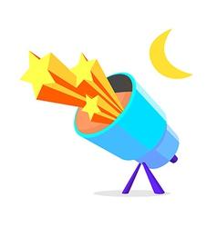 icon telescope vector image