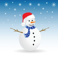 Snowman color vector