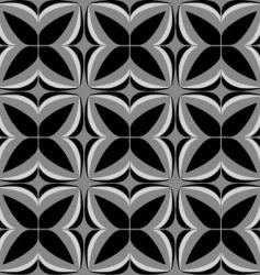 squared tile floral vector image