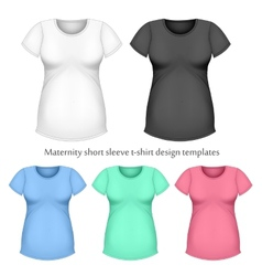 Maternity short sleeve t-shir vector