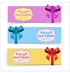 Saint valentine day banners vector