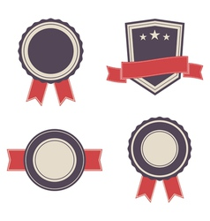 Set of vintage badges and lables vector
