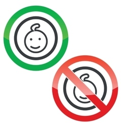 Child permission signs vector